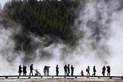 Grand Prismatic Spring at Yellowstone`s Midway Geyser Basin Stock Photography