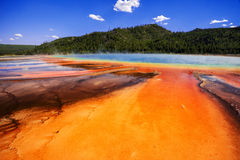 Grand Prismatic Spring in yellowstone USA Stock Photos