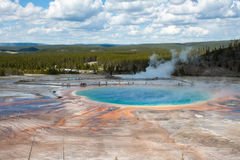 Grand Prismatic Spring in Yellowstone, WY Royalty Free Stock Photos