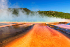 Grand Prismatic Spring in Yellowstone, Wyoming. Grand Prismatic Spring at the Midway Geyser Basin in Yellowstone National Park, Wyoming royalty free stock photography