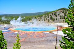 Grand Prismatic Springs Stock Image