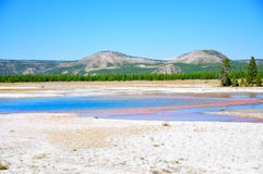 Grand Prismatic Springs Royalty Free Stock Image