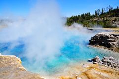 Grand Prismatic Springs Royalty Free Stock Images