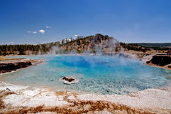 Grand Prismatic Springs Yellowstone Stock Photo