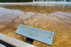 Grand Prismatic Springs, Yellowstone National Park, Wyoming Royalty Free Stock Photography