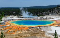 Grand Prismatic Springs Yellowstone National Park Wyoming Royalty Free Stock Photos