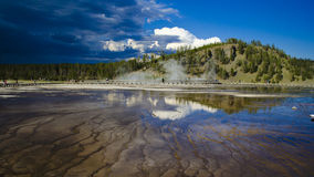 Grand Prismatic. View of West Thumb Geyser Basin in Yellowstone National Park stock photo