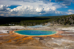 Grand Prismatic at Yellowstone Royalty Free Stock Photo