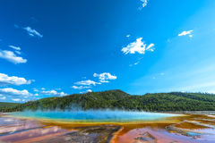 Grand Prismatic Yellowstone National Park Stock Photo