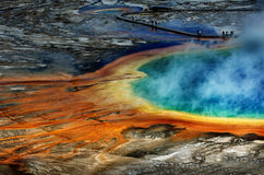 Grand Prismatice Pool Steam Yellowstone Tour Sight Royalty Free Stock Photo