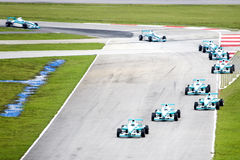 Grand Prix. Racing cars in action Royalty Free Stock Images