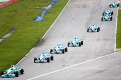 Grand Prix. Racing cars in action Stock Photos