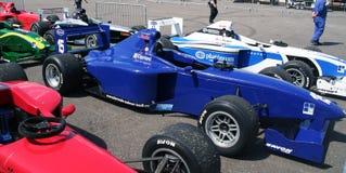 A1 Grand Prix cars. Aligned on Brands Hatch paddocks - Formula Palmer Audi series Stock Photography