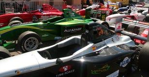 A1 Grand Prix cars. Aligned on Brands Hatch paddocks - Formula Palmer Audi series Royalty Free Stock Image