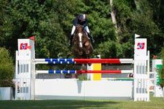 Grand Prix CSIO-W*** August 10, 2014 in Bratislava, Slovakia Stock Images