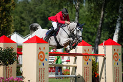 Grand Prix CSIO-W*** August 10, 2014 in Bratislava, Slovakia Royalty Free Stock Photo