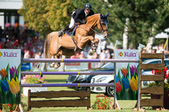 Grand Prix CSIO-W*** August 10, 2014 in Bratislava, Slovakia Royalty Free Stock Images