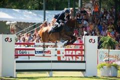 Grand Prix CSIO-W *** 10 de agosto de 2014 en Bratislava, Eslovaquia Fotos de archivo