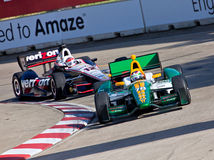 Grand Prix die in Detroit Michigan rennen Stock Afbeeldingen