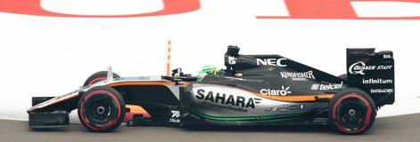 Grand Prix F1 2016 της Ινδίας Mercedes VJM09 δύναμης Στοκ εικόνες με δικαίωμα ελεύθερης χρήσης