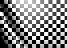 Grand prix flag. White and black checkered flag abstract background Royalty Free Stock Photography