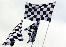 Grand Prix Flags. Abstract Grand Prix Chequred Flags Royalty Free Stock Images