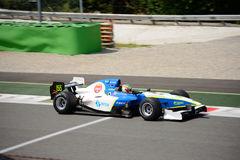 A1 Grand Prix Formula Car. Luis Michael Dorrbecker brings this Formula Car on the track in occasion of the 2016 Peroni Racing Weekend at Monza Stock Image