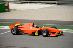 A1 Grand Prix Formula Car. Mahaveer Raghunathan brings this Formula Car on the track in occasion of the 2016 Peroni Racing Weekend at Monza Royalty Free Stock Photos