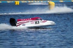Grand Prix Formula 1 H2O. VYSHGOROD, UKRAINE - JULY 20,2012 : Grand Prix Formula 1 H2O World Championship Powerboat in Vyshgorod, Ukraine Royalty Free Stock Image