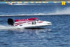 Grand Prix Formula 1 H2O. VYSHGOROD, UKRAINE - JULY 20,2012 : Grand Prix Formula 1 H2O World Championship Powerboat in Vyshgorod, Ukraine Stock Images