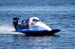 Grand Prix Formula 1 H2O World Championship. VYSHGOROD, UKRAINE - JULY 20 : Powerboat number 77 GC Team F1 fast speed,pilot Matt Paljreyman . Grand Prix Formula Stock Photo