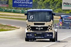 Grand Prix of France trucks 2013 Stock Photo