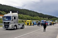 Grand Prix of France trucks 2013 Royalty Free Stock Image