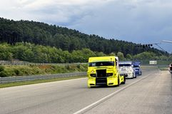 Grand Prix of France trucks 2013 Royalty Free Stock Photography