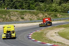 Grand Prix of France trucks 2013 Stock Images