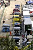 Grand Prix of France trucks 2013 Royalty Free Stock Photos