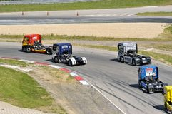 Grand Prix of France trucks 2013 Stock Image
