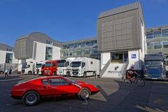 Grand Prix historique français commémore 50 ans de Ligier image stock