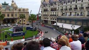Grand Prix Historique of Monaco. Monte-Carlo, Monaco - May 13, 2016: Old Racing Cars of Grand Prix Historique of Monaco 2016 in Front of the Monte-Carlo Casino stock video