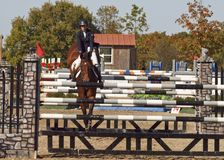 Grand Prix Jumping Stock Photo