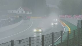 Grand Prix at the legendary Autodrome. Monza, Italy - April 23, 2017: Morning practice ahead of the 2017 Italian FIA World Endurance Championship at the stock video