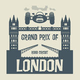 Grand Prix of London. Abstract background with the words Grand Prix of London inside Royalty Free Stock Photo