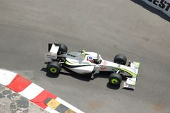 Grand Prix Monaco 2009, Brawn of Barrichello Stock Photography