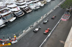 Grand Prix Monaco 2012 - Additional lap car parade. 27.05.2012, Monaco (Monte-Carlo) - Car parade during the additional lap after the race to celebrate the Royalty Free Stock Images