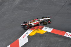Grand Prix Monaco 2012 - Damaged HRT of De La Rosa Stock Photo