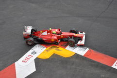 Grand Prix Monaco 2012 - Ferrari of Felipe Massa Royalty Free Stock Photos