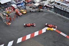 Grand Prix Monaco 2012 - Ferrari team. 27.05.2012, Monaco (Monte-Carlo) - Ferrari of Felipe Massa and Fernando Alonso during the race Royalty Free Stock Photo