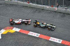 Grand Prix Monaco 2012 - McLaren and Caterham Stock Photography