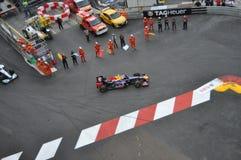Grand Prix Monaco 2012 - Red Bull van Teken Webber Stock Afbeeldingen