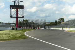 On the Grand Prix of Montreal Track Stock Photography